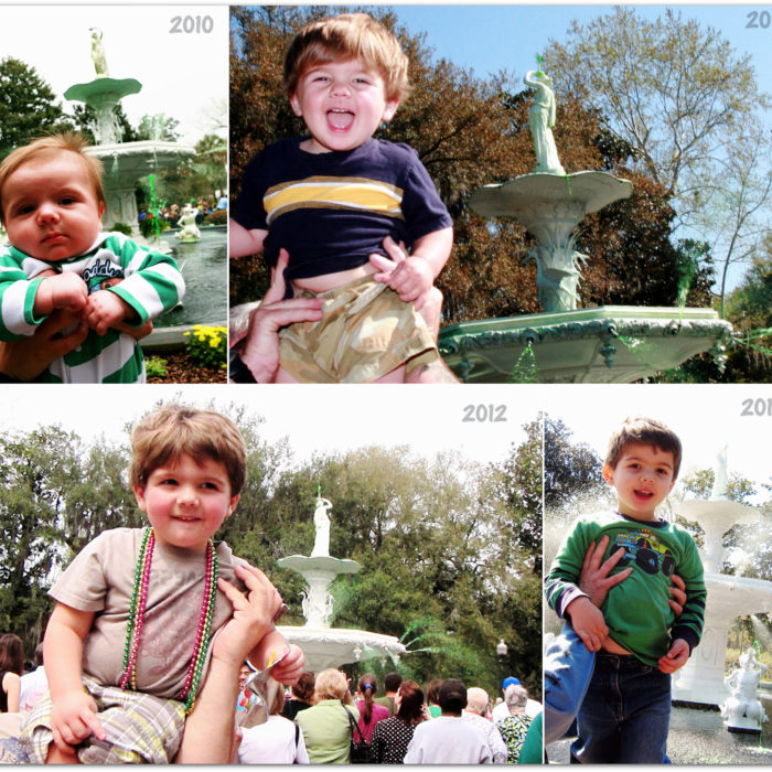 Forsyth Park Fountain {Happy St. Patty's!}