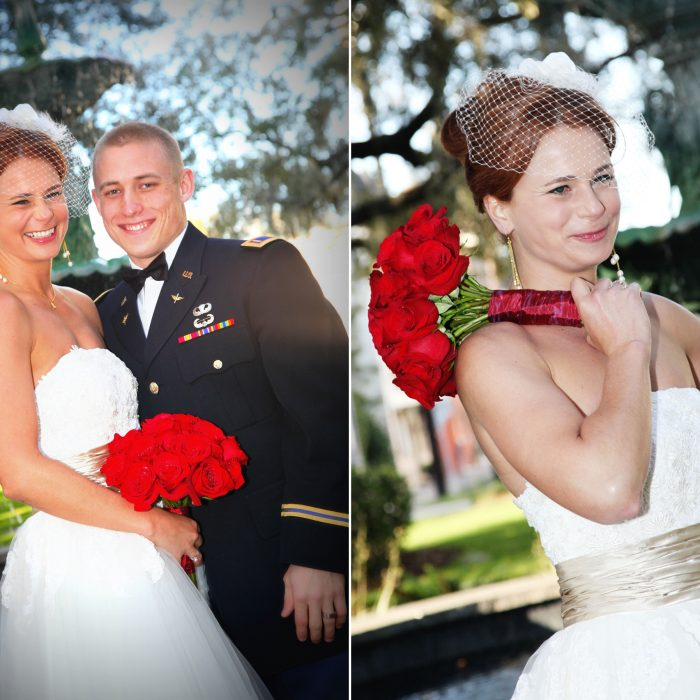 Savannah Military Wedding | Lafayette Square {Rachel & Brandon}