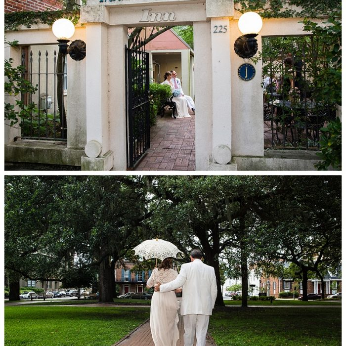 Savannah Ga. Wedding | Presidents' Quarters Inn | Kathleen & David