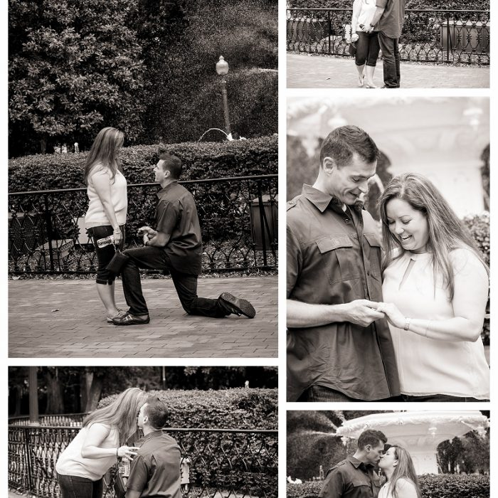 Forsyth Park Marriage Proposal- She Said Yes!