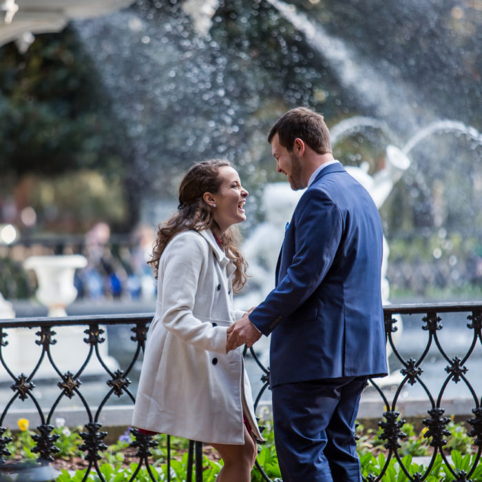 Savannah Proposal | Forsyth Park Engagement Session | Sydney and Andrew