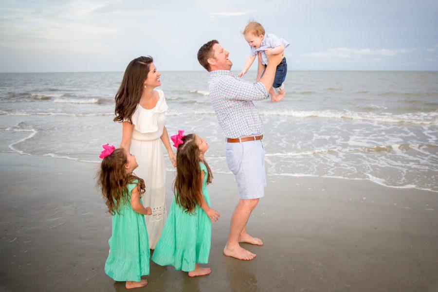 family on beach -Diane Dodd Photography - Savannah Georgia