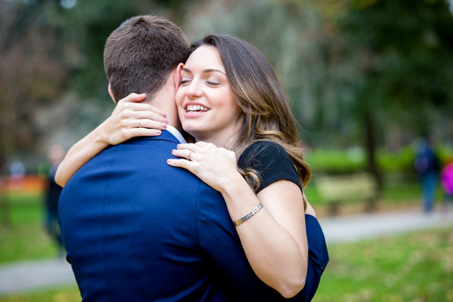 engaged couple hugging - Diane Dodd Photography - Savannah, Georgia