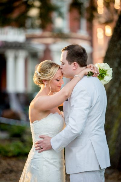 groom kissing bride - Diane Dodd Photography - Savannah, Georgia