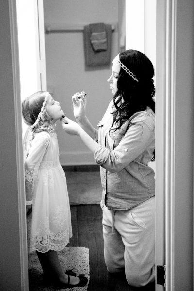 bride and flower girl - diane dodd photography - savannah georgia