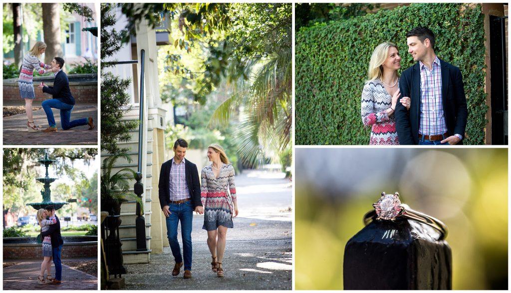 savannah engagement and proposal photographer