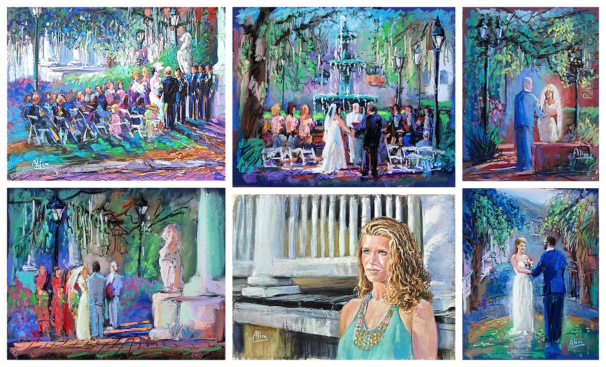 live wedding painter savannah ga