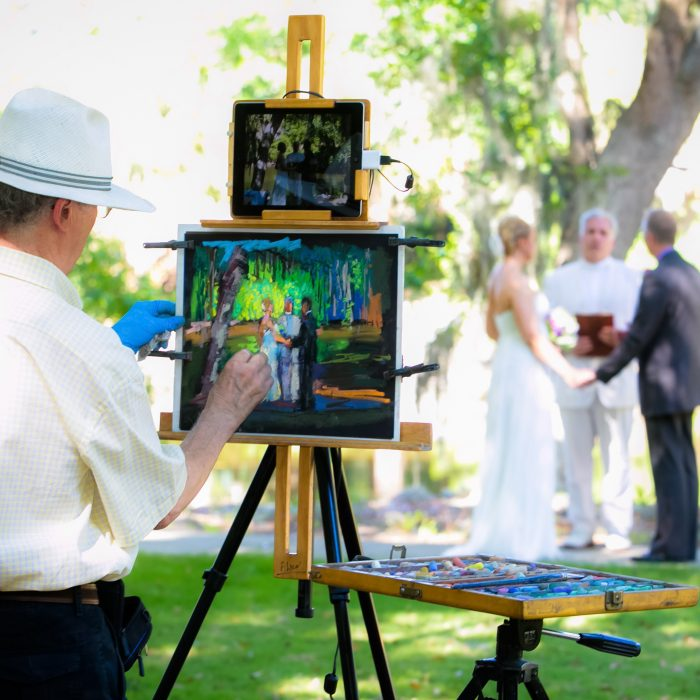 Savannah Live Wedding Painter  | Paul Alico