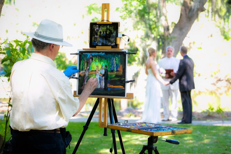 Savannah Live Wedding Painter  | Paul Alico