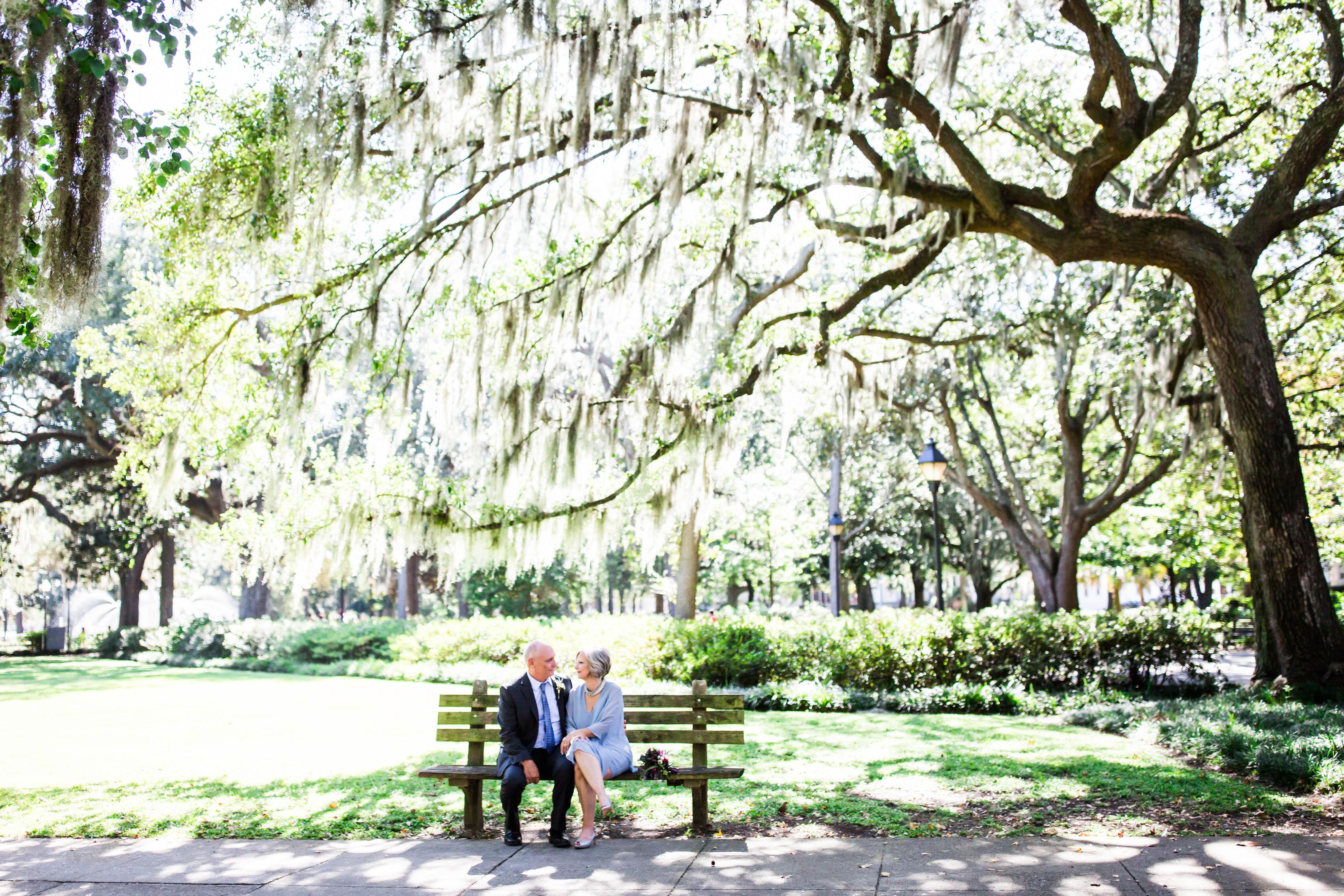 forsyth park savannah elopement